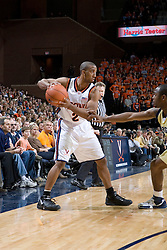 Virginia Cavaliers guard J.R. Reynolds (2) in action against GT.  The Virginia Cavaliers Men's Basketball Team defeated the Georgia Tech Yellow Jackets 75-69 at the John Paul Jones Arena in Charlottesville, VA on February 24, 2007.