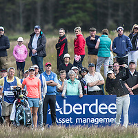 Picture by Christian Cooksey/CookseyPix.com . Standard repro rates apply. <br /> <br /> Aberdeen Asset Management Ladies Scottish Open at Dundonald Links, Irvine Ayrshire. <br /> <br /> World No2 Lydia Ko from New Zealand fires her tee shot into the par 3 11th.
