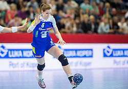 Ana Gros of Slovenia during handball game between Women National Teams of Slovenia and Switzerland in 2014 Women's European Championship Qualification, on March 30, 2014 in Arena Kodeljevo, Ljubljana, Slovenia. Photo by Vid Ponikvar / Sportida
