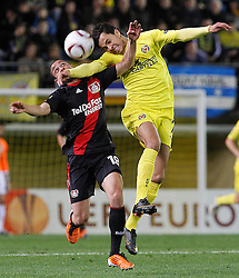 17.03.2011, El Madrigal, Villarreal, ESP, UEFA EL, FC Villarreal vs Bayer 04 Leverkusen, im Bild Villareal's Nilmar Honorato da Silva (r) and Bayer 04 Leverkusen's Sidney Sam during UEFA Europa League match.March 17,2011. . EXPA Pictures © 2011, PhotoCredit: EXPA/ Alterphotos/ Acero +++++ ATTENTION - OUT OF SPAIN / ESP +++++