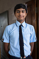 Adarsh Patidar, aged 15, poses for a portrait in Vasudha Vidya Vihar school in Khargone, Madhya Pradesh, India on 12 November 2014. Adarsh, the son of a Fairtrade Cotton Producer, wants to follow in his father's footsteps and become a cotton farmer. The school was built using the Fairtrade Premium of the Fairtrade Cotton Producers. Photo by Suzanne Lee for Fairtrade