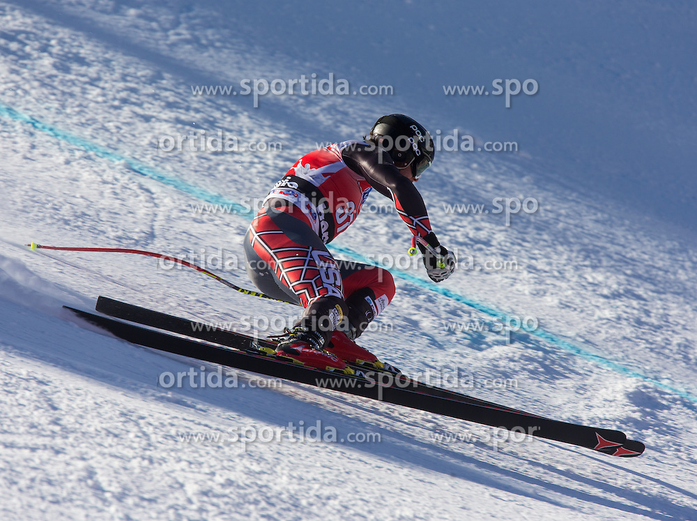 27.12.2013, Stelvio, Bormio, ITA, FIS Ski Weltcup, Bormio, Abfahrt, Herren, 1. Traininglauf, im Bild Nick Daniels (USA) // Nick Daniels of the USA in action during mens 1st downhill practice of the Bormio FIS Ski Alpine World Cup at the Stelvio Course in Bormio, Italy on 2012/12/27. EXPA Pictures © 2013, PhotoCredit: EXPA/ Johann Groder