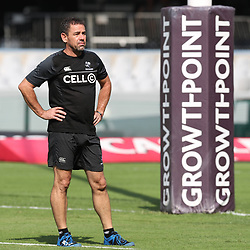 John Hooper (Masseur) of the Cell C Sharks during the Super Rugby match between the Cell C Sharks and the Jaguares  April 8th 2017 - at Growthpoint Kings Park,Durban South Africa Photo by (Steve Haag)
