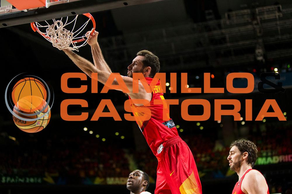 DESCRIZIONE : Madrid FIBA Basketball World Cup Spain 2014 1/4 Finals Francia Spagna France Spain<br /> GIOCATORE : Rudy FERNANDEZ<br /> CATEGORIA : <br /> SQUADRA : Spagna Spain<br /> EVENTO : FIBA Basketball World Cup Spain 2014<br /> GARA : Brasile Argentina Brazil Argentina<br /> DATA : 10/09/2014<br /> SPORT : Pallacanestro <br /> AUTORE : Agenzia Ciamillo-Castoria<br /> Galleria : FIBA Basketball World Cup Spain 2014<br /> Fotonotizia : Madrid FIBA Basketball World Cup Spain 2014 1/4 Finals Francia Spagna France Spain