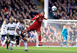 LONDON, ENGLAND - Sunday, March 17, 2019: Liverpool's Georginio Wijnaldum during the FA Premier League match between Fulham FC and Liverpool FC at Craven Cottage. (Pic by David Rawcliffe/Propaganda)