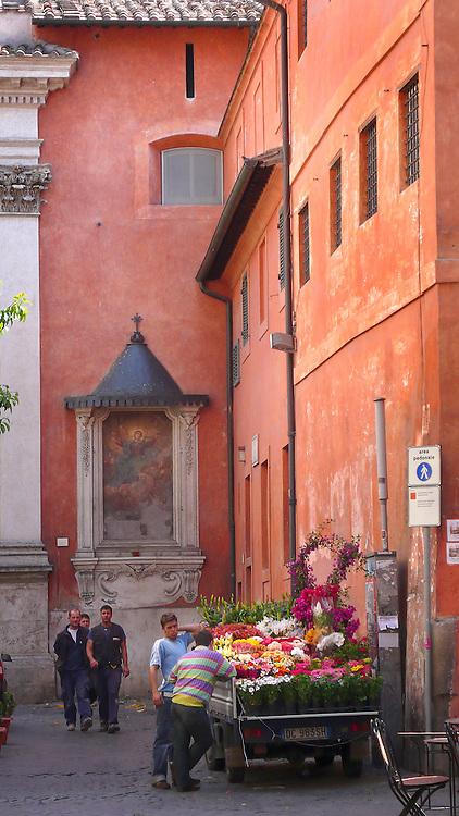 Trastevere neighborhood, Rome, Italy.