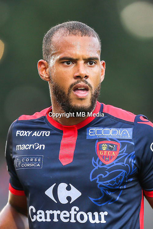 Remi Mulumba of Ajaccio during the Ligue 2 match between Stade Lavallois Laval and Gazelec Ajaccio on August 19, 2016 in Laval, France. (Photo by Vincent Michel/Icon Sport)