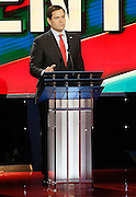 US Republican Presidential Candidate  Marco Rubio  during the Republican Presidential Debate at the University of Houston in Houston, Texas on February 25, 2016.