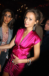 CAMILLA AL FAYED daughter of Mohamed Al Fayed owner of Harrod's at a party hosted by Tatler magazine to celebrate the publication of the 2004 Little Black Book held at Tramp, 38 Jermyn Street, London SW1 on 10th November 2004.<br />