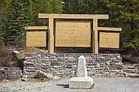 Continental Divide on Border of Banff and Kootenay National Parks, Canada
