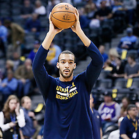 20 November 2016: Utah Jazz center Rudy Gobert (27) warms up prior to the Denver Nuggets 105-91 victory over the Utah Jazz, at the Pepsi Center, Denver, Colorado, USA.