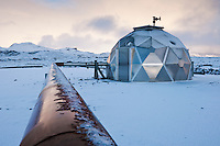 Borehole at Hellisheiði. The Hellisheiði Geothermal Plant is situated at Hengill, an active volcanic ridge in SW Iceland.