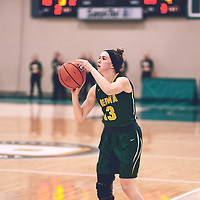 2nd year guard, Faith Reid (13) of the Regina Cougars during the Women's Basketball Home Game on Sat Nov 03 at Centre for Kinesiology,Health and Sport. Credit: Arthur Ward/Arthur Images