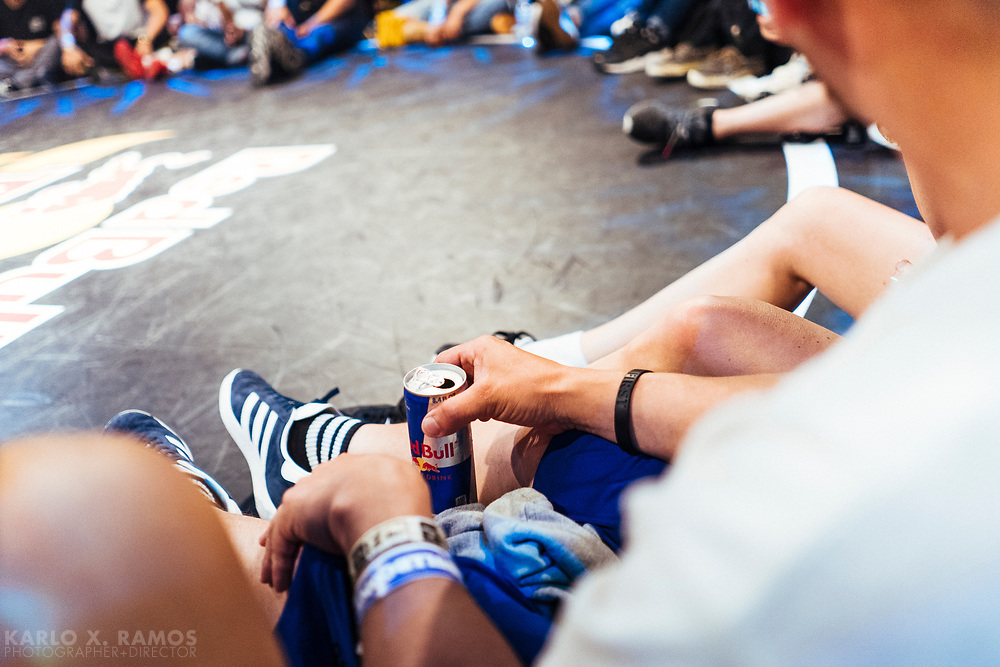 detail of an expectator wit a can during Red Bull BC One Camp Houston, TX May 19 2019