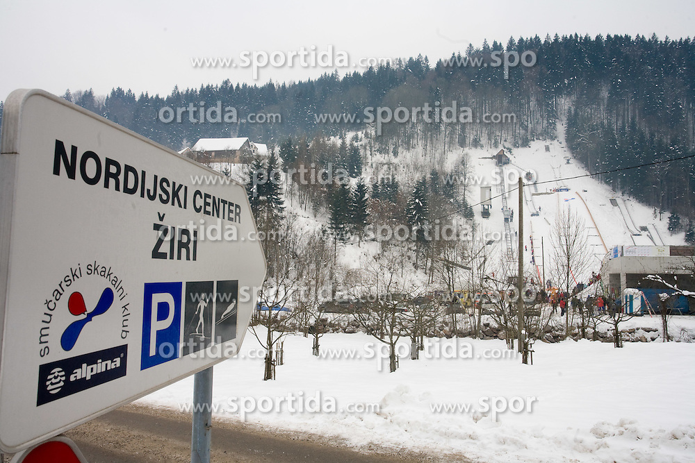 Sign for Nordic center Ziri at Ski Jumping at World Winter Masters games Slovenia Bled 2010, on January 28, 2010 in Ziri, Slovenia.  (Photo by Vid Ponikvar / Sportida)