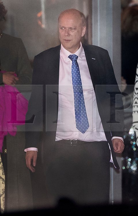 © Licensed to London News Pictures. 06/02/2019. London, UK.  Transport Secretary Chris Grayling leaves the annual Black and White Ball, a fundraiser held by the Conservative Party in Battersea Park. Photo credit: Peter Macdiarmid/LNP