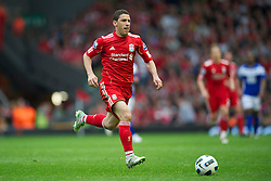 LIVERPOOL, ENGLAND - Saturday, April 23, 2011: Liverpool's Maximiliano Ruben Maxi Rodriguez in action against Birmingham City during the Premiership match at Anfield. (Photo by David Rawcliffe/Propaganda)