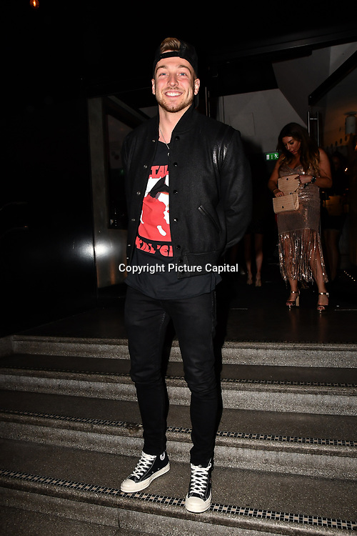 Sam Thompson attend TMA Talent Management Group host launch party for their new dating app, The List at 100 Wardour Street  on 3rd April 2019, London, UK.