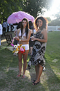 Vanessa Norton and Natasha de Freitas, Conservative Party, Summer party, Royal Hospital Chelsea, Royal Hospital Road, London, SW3,3 July 2006. ONE TIME USE ONLY - DO NOT ARCHIVE  © Copyright Photograph by Dafydd Jones 66 Stockwell Park Rd. London SW9 0DA Tel 020 7733 0108 www.dafjones.com