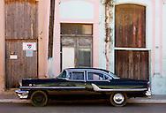Black car in Cardenas, Matanzas, Cuba.