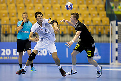 Julien Bos of France during handball match between National teams of Germany and France in Semifinal of 2018 EHF U20 Men's European Championship, on July 25, 2018 in Arena Zlatorog, Celje, Slovenia. Photo by Urban Urbanc / Sportida