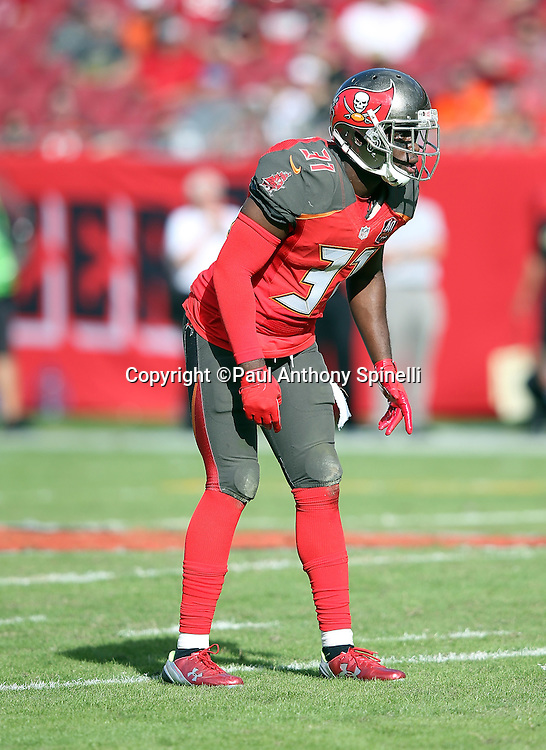 Tampa Bay Buccaneers strong safety Major Wright (31) gets set for the snap during the 2015 week 14 regular season NFL football game against the New Orleans Saints on Sunday, Dec. 13, 2015 in Tampa, Fla. The Saints won the game 24-17. (©Paul Anthony Spinelli)