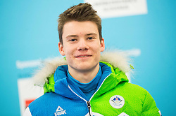 Tine Bogataj during presentation of Slovenian Young Athletes before departure to EYOF (European Youth Olympic Festival) in Vorarlberg and Liechtenstein, on January 21, 2015 in Bled, Slovenia. Photo by Vid Ponikvar / Sportida