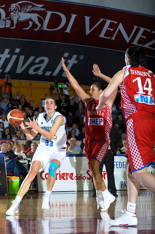 DESCRIZIONE : Venezia Additional Qualification Round Eurobasket Women 2009 Italia Croazia<br /> GIOCATORE :  Raffaella Masciardi<br /> SQUADRA : Nazionale Italia Donne<br /> EVENTO : Italia Croazia<br /> GARA :<br /> DATA : 10/01/2009<br /> CATEGORIA : Palleggio<br /> SPORT : Pallacanestro<br /> AUTORE : Agenzia Ciamillo-Castoria/M.Gregolin