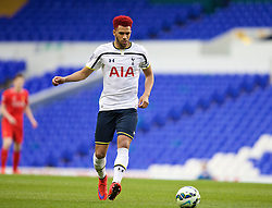 LONDON, ENGLAND - Friday, April 17, 2015: Liverpool's captain Etienne Capoue in action against Tottenham Hotspur during the Under 21 FA Premier League match at White Hart Lane. (Pic by David Rawcliffe/Propaganda)