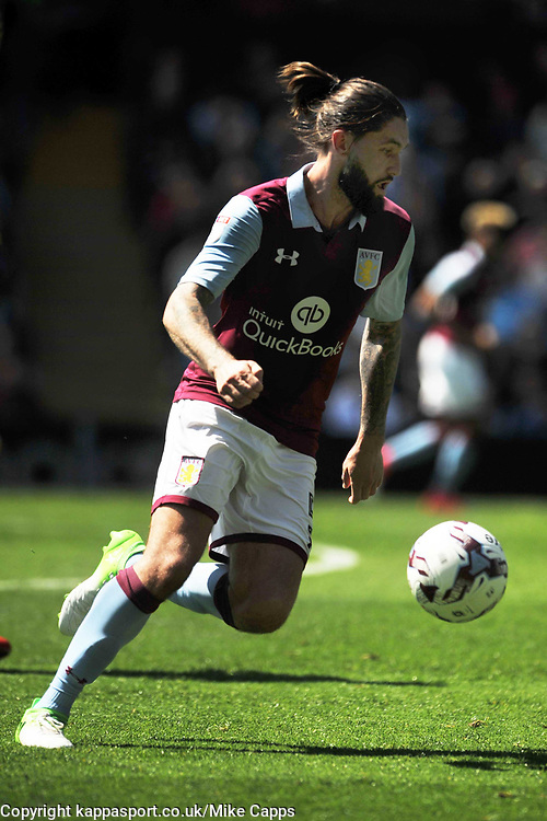 HENRI LANSBURY ASTON VILLA, Aston Villa v Brighton &amp; Hove Albion Sky Bet Championship Villa Park, Brighton Promoted to Premiership Sunday 7th May 2017 Score 1-1 <br /> Photo:Mike Capps