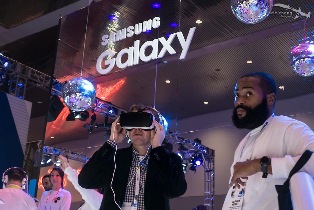 Samsung Galaxy / GearVR booth. CES 2016, Las Vegas.