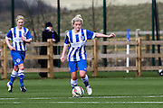 Danielle Rowe during the FA Women's Premier League match between Brighton Ladies and Cardiff City Ladies at Brighton's Training Ground, Lancing, United Kingdom on 22 March 2015. Photo by Geoff Penn.