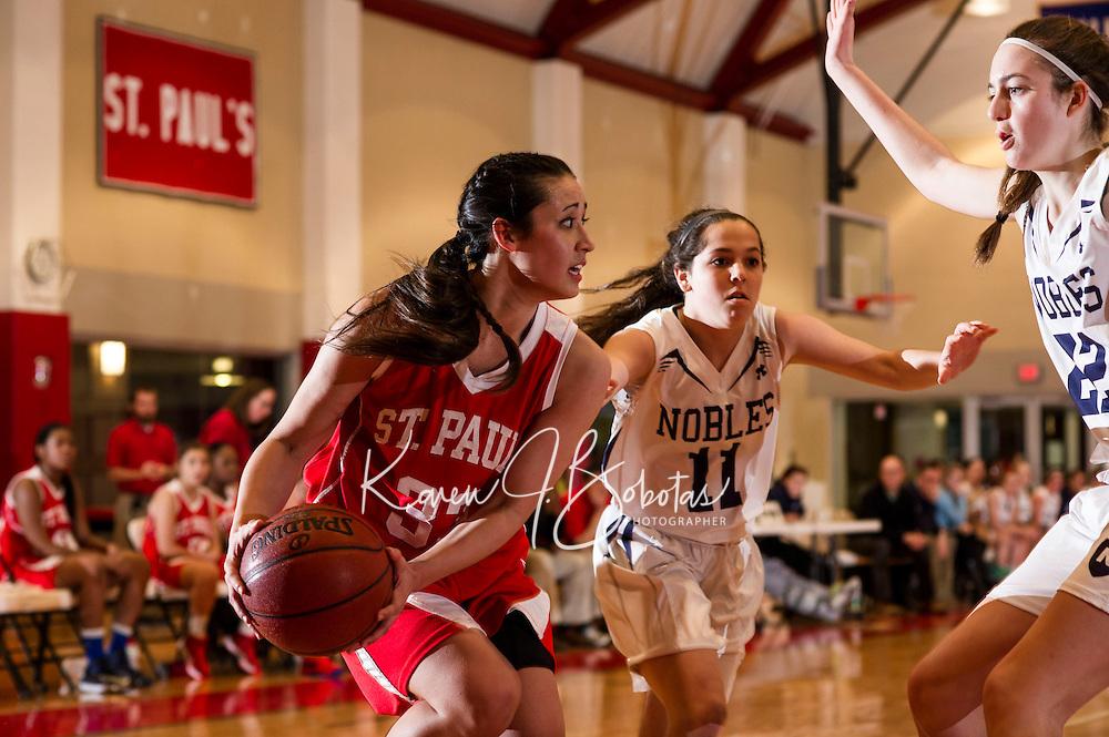 St Paul's School varsity boys and girls Basketball.  © 2013 Karen Bobotas Photographer