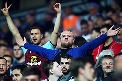 Burnley fans celebrate victory at full time - Mandatory by-line: Matt McNulty/JMP - 23/08/2017 - FOOTBALL - Ewood Park - Blackburn, England - Blackburn Rovers v Burnley - Carabao Cup - Second Round