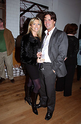 Actress TINA HOBLEY and OLIVER WHEELER at the opening party for Tom's Kitchen - the restaurant of Tom Aikens at 27 Cale Street, London SW3 on 1st November 2006.<br />
