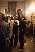 Ashley Shaw-Scott;, Okwui Enwezor and Vinyl Facorty hosted party at Ca'Sagredo, Campo Santa Sofia Venice Biennale, Venice. 5 May 2015