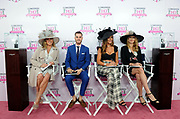 Stefanie Graf, right, tennis legend and Longines Ambassador of Elegance, joins fellow judges Jill Goodacre Connick, left, Sam White, second left, and Courtney Sixx, second right, at the Longines Kentucky Oaks Day Fashion Contest, Friday, May 5, 2017, in Louisville, KY. Longines, the Swiss watch manufacturer known for its luxury timepieces, is the Official Watch and Timekeeper of the 143rd annual Kentucky Derby. (Photo by Diane Bondareff/AP Images for Longines)
