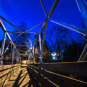 The new bridge over the railways tracks on the 100 steps walkway in Guelph. Photo by Andrew Goodwin