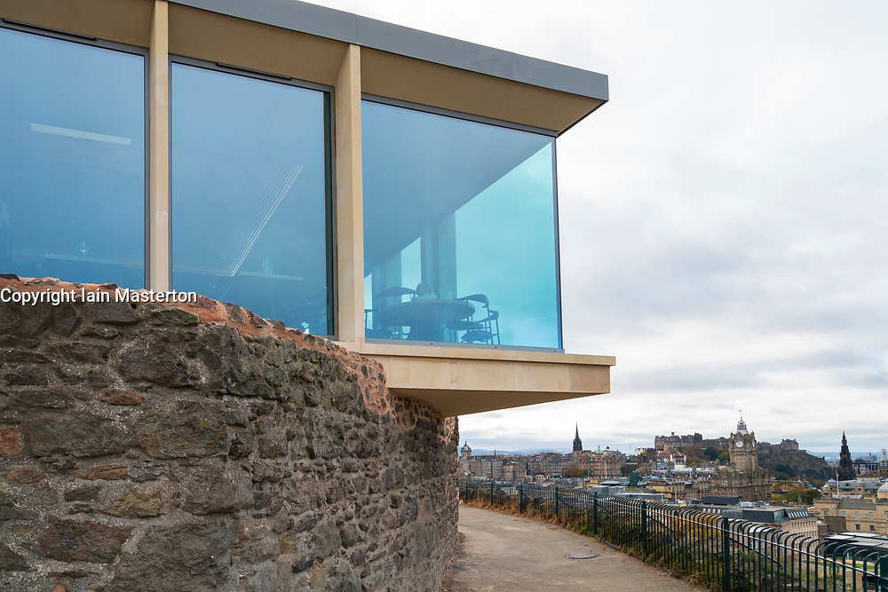 New restaurant building part of the new Collective Gallery project on Calton Hill in Edinburgh, Scotland UK.