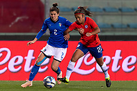 International Women's Friendly Matchs 2019 / <br /> Italy vs Chile 2-1 ( Carlo Castellani Stadium - Empoli,Italy ) - <br /> Javiera Toro of Chile (R) ,challenge with Valentina Bergamaschi of Italy (L)