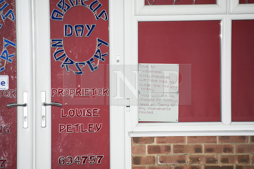 © Licensed to London News Pictures. 19/02/2014. Essex, UK. A nursery in Essex has been closed while investigations are carried out over allegations about the treatment of children in its care. Concerns have been raised over the health, safety and welfare of children attending the Abacus Day Nursery, in Orchard Avenue, Billericay.  Photo credit : Simon Ford/LNP