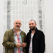 23.03.16<br /> LSAD are delighted to host SYMBOLS: Culture of Death and Cultural Life, a Creative Europe Project under the European Commission. <br /> <br /> Attending the exhibition were show curator Des McMahon, LSAD and exhibiting artist James Kearney, Clonmel Co. Tipperary.<br /> <br /> LSAD are one of the seven partners in this Creative Europe project which is running from 2014-2016. This exhibition will feature work from international printmakers, dancers and musicians from 7 European countries. This show embraces not only the work created by these artists during two residencies responding to the theme of symbols, one in Aviles, Spain and one in Dundee Scotland and includes work by Limerick artists, musicians and dancers, Gemma Dardis, Mary O'Dea, Jennifer Brown and Hannah Fahey, but also offers a response by the students of the printmaking department in LSAD to the historic Limerick cemeteries of Mount St. Lawrence and St. John's. The students created an exciting and thought provoking body of work which is showing along side these international artists. Picture: Alan Place/Fusionshooters