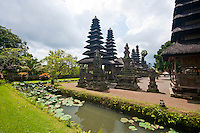 Temple complex with pool at Pura Taman Ayun near Mengwi in Bali, Indonesia