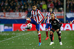 17.03.2015, Estadio Vicente Calderon, Madrid, ESP, UEFA CL, Atletico Madrid vs Bayer Leverkusen, Achtelfinal, R&uuml;ckspiel, im Bild Atletico de Madrid&acute;s /at and Bayer 04 Leverkusen&acute;s Bellarabi // during the UEFA Champions League Round of 16, 2nd Leg match between Atletico de Madrid and Bayer Leverkusen at the Estadio Vicente Calderon in Madrid, Spain on 2015/03/17. EXPA Pictures &copy; 2015, PhotoCredit: EXPA/ Alterphotos/ Victor Blanco<br /> <br /> *****ATTENTION - OUT of ESP, SUI*****