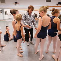 Sharon Long, center, gets her fouth grade dancers in order before they start their audition for this year's nutcracker.