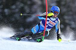 06.01.2014, Stelvio, Bormio, ITA, FIS Weltcup Ski Alpin, Bormio, Slalom, Herren, im Bild Mattias Hargin // Mattias Hargin  in action during mens Slalom of the Bormio FIS Ski World Cup at the Stelvio in Bormio, Italy on 2014/01/06. EXPA Pictures © 2014, PhotoCredit: EXPA/ Sammy Minkoff<br /> <br /> *****ATTENTION - OUT of GER*****