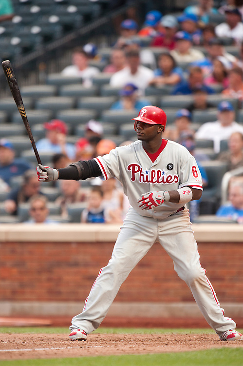 NEW YORK - JULY 16: Ryan Howard #6 of the Philadelphia Phillies bats during the game against the New York Mets at Citi Field on July 16, 2011 in the Queens borough of Manhattan. (Photo by Rob Tringali) *** Local Caption *** Ryan Howard