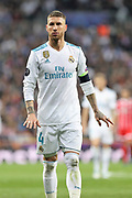 Sergio Ramos (Real Madrid) during the UEFA Champions League, semi final, 2nd leg football match between Real Madrid and Bayern Munich on May 1, 2018 at Santiago Bernabeu stadium in Madrid, Spain - Photo Laurent Lairys / ProSportsImages / DPPI