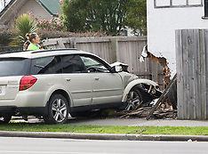 Christchurch-Car crashes into house on Stanmore Road