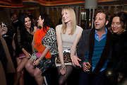 LIBERTY ROSS;KATIE GRAND; JADE PARFITT; Lars von Bennigson; ALICE TEMPERLEY, . W Hotel, Leicester Sq. London. 17 February 2011. -DO NOT ARCHIVE-© Copyright Photograph by Dafydd Jones. 248 Clapham Rd. London SW9 0PZ. Tel 0207 820 0771. www.dafjones.com.